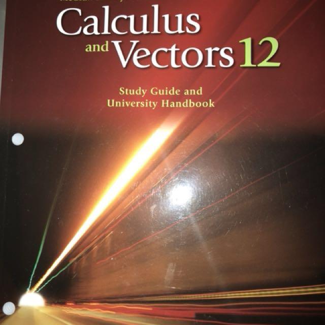 Calculus and vectors grade 12
