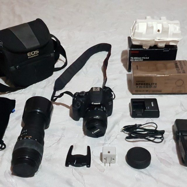 CANON EOS 1200D 18 55mm Kit Lens SIGMA Macro 70 300mm F4