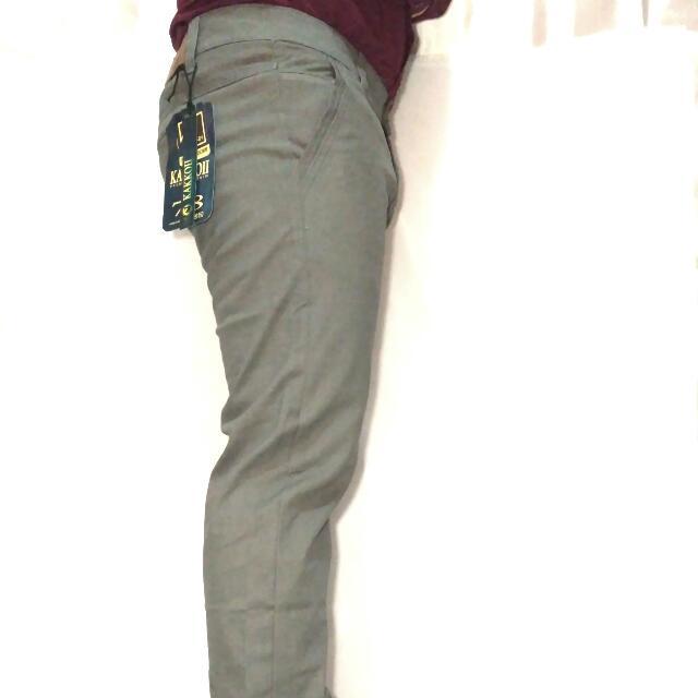 Celana Pria Semi Jeans Warna Abu Muda Merk Kakkoii