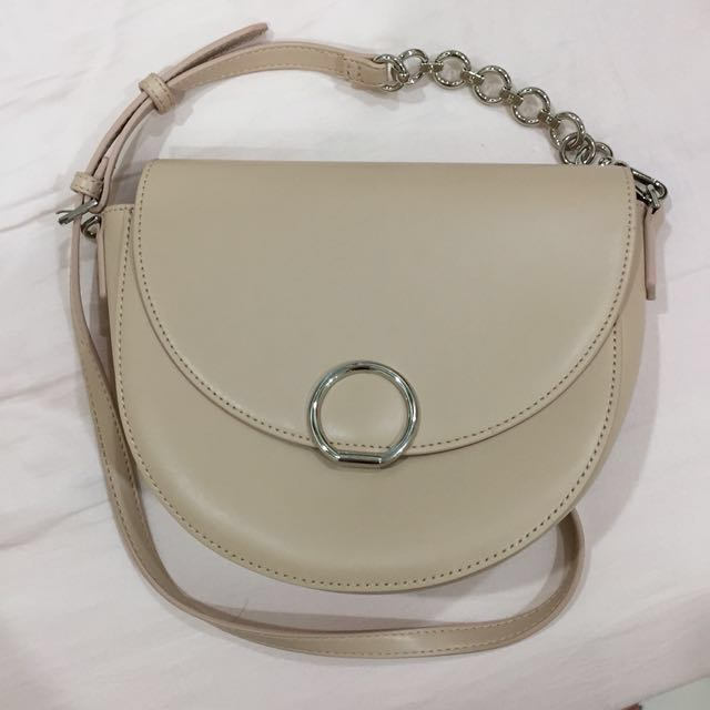 Charles and Keith beige ring bag