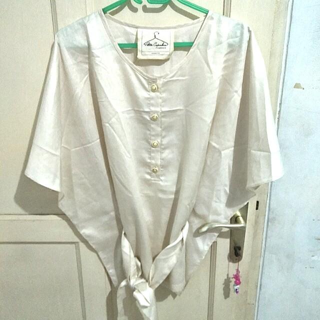 #cintadiskon white satin top