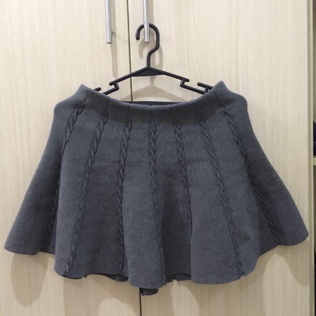 Cotton On Gray Skater Skirt