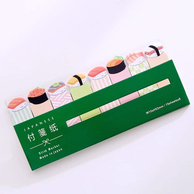 Cute sushi sticky note memo notes kawaii