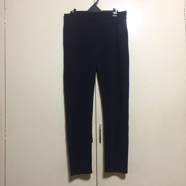 Dark Blue Skinny Trousers Slacks Pants L-XL