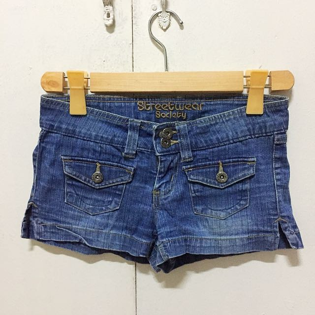 Denim Shorts with Slit