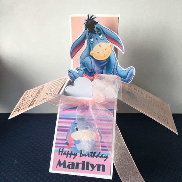 Eeyore Birthday Box Card Design Craft Others On Carousell