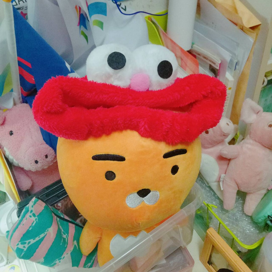 Elmo 大眼睛紅色鬆緊髮帶 #新春八折