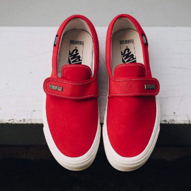 851e6e3f0e3cad Fear of god Fog Vans Vault Slip On 47 V Dx red suede us9.5 Brand new ...