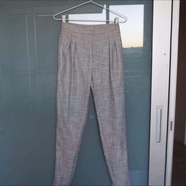 Forcast Grey High Waisted Pants
