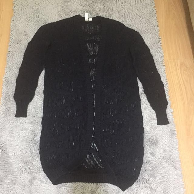 Forever21 Cardigan Black Knitted Small