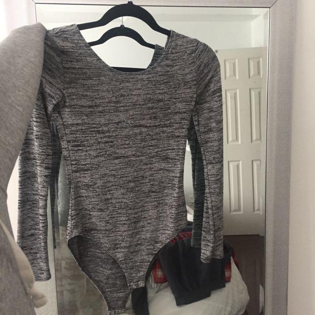 Forever 21 grey bodysuit