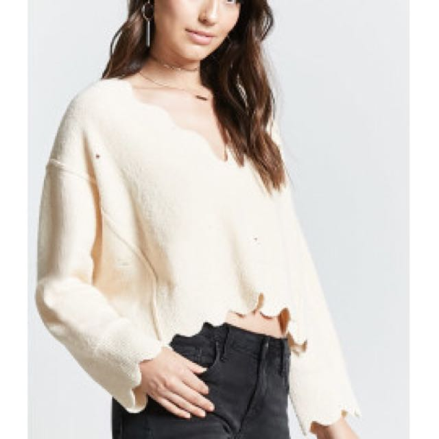 forever 21 scalloped sweater