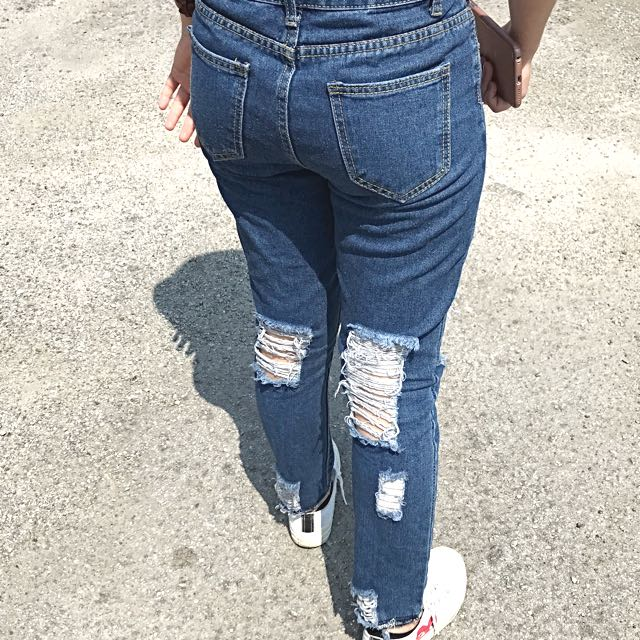 Front back Ripped Jeans