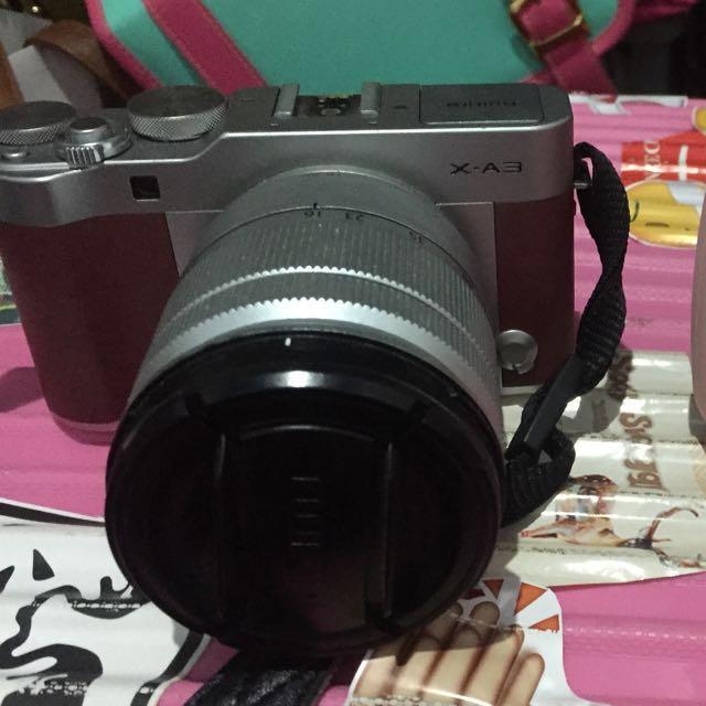 Fuji Film XA3 brown dus lengkap, baru beli beberapa bulan jarang dipake