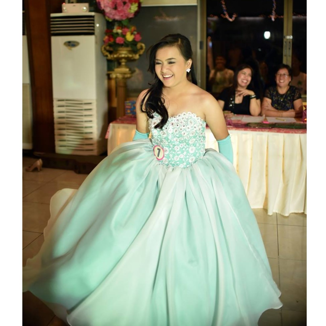 GOWN FOR RENT- Mint green Ball gown, Preloved Women\'s Fashion ...
