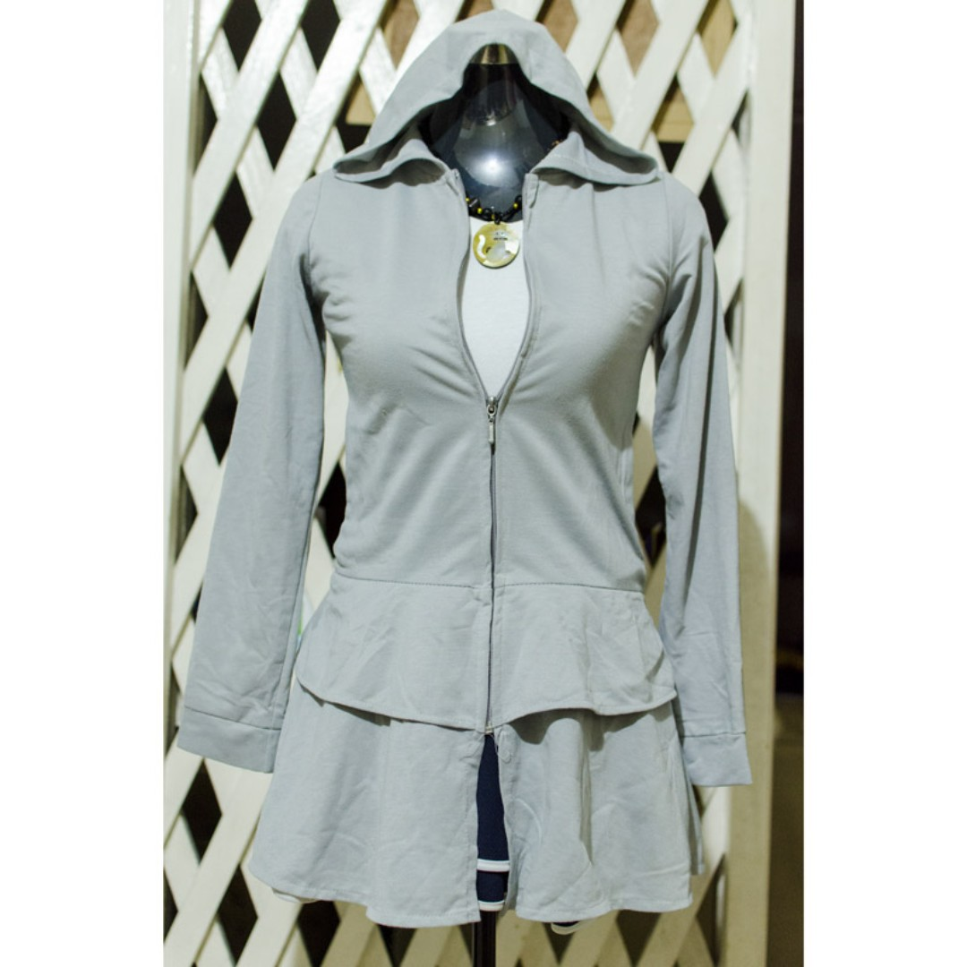 Gray Jacket with frills