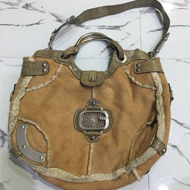 Guess Suede with Fur Bag