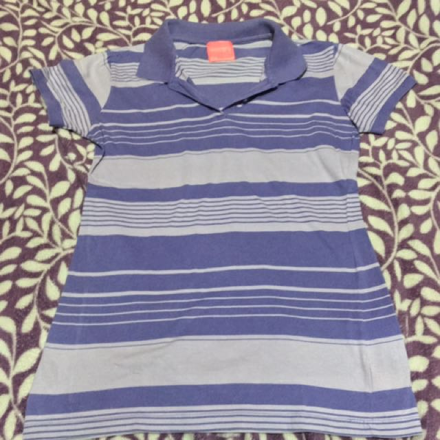 Herbench violet polo shirt