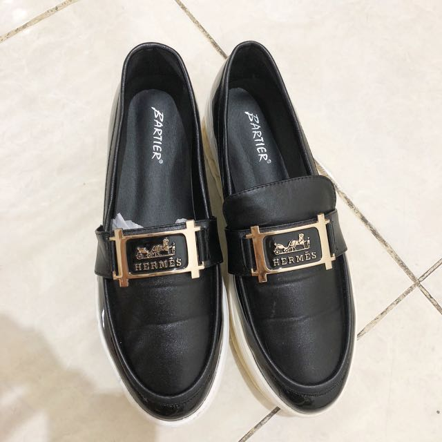 Hermes black shoes