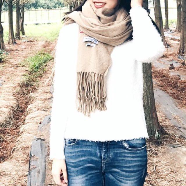 H&M 白色毛衣