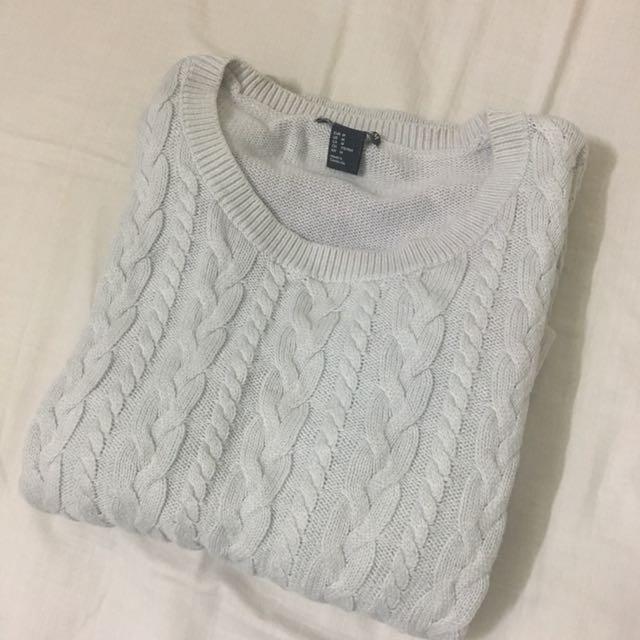H&M 麻花針織毛衣