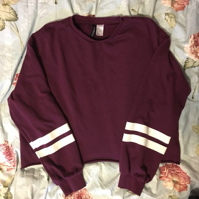 H&Mcrop sweater-M