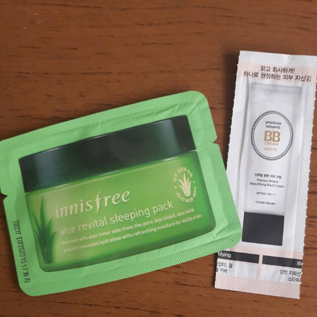 Innisfree sleeping pack & BB cream etude