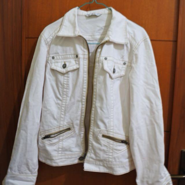 Jacket jeans white