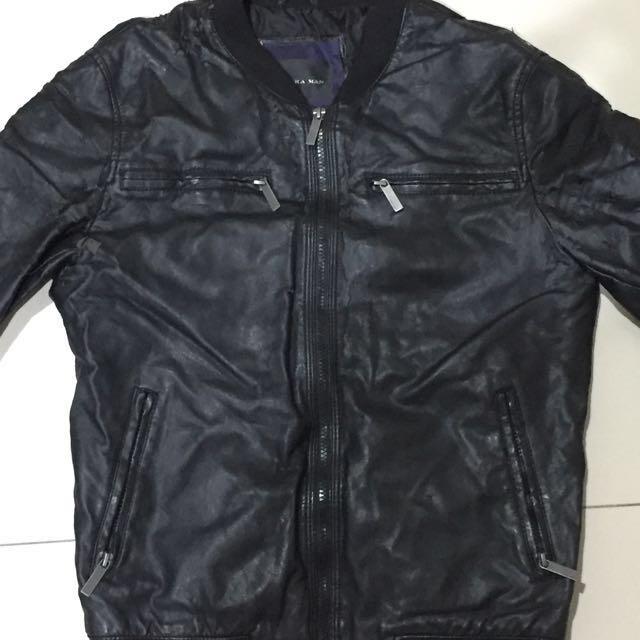 Jaket Kulit Zara / Leather Jacket Zara / Jaket Stylish