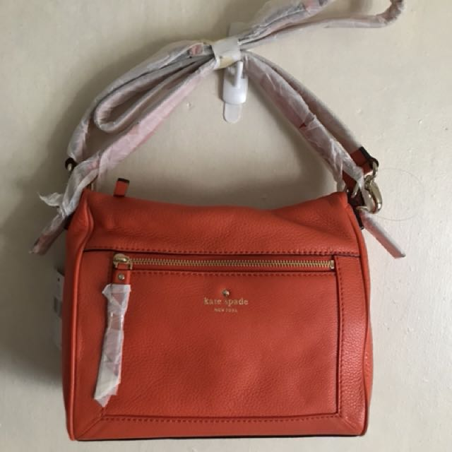 Kate Spade Cobble Hill Small Harris in Cyber Orange