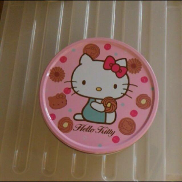 Kitty可愛餅乾鐵盒