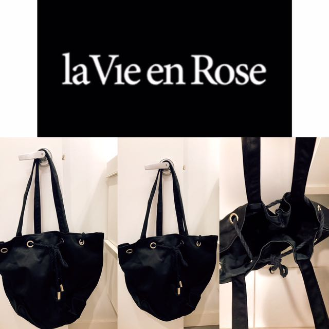 La Vie En Rose Perfect Black Tote Bag