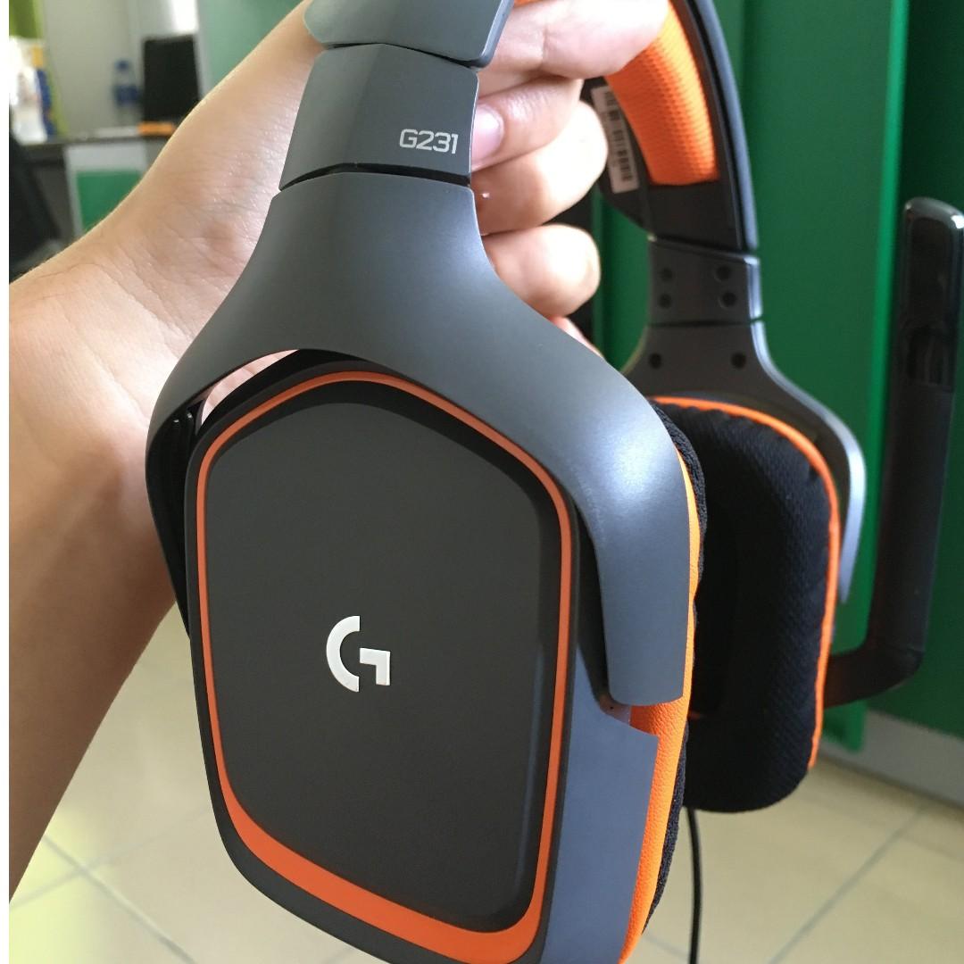 Logitech Prodigy G231 Stereo Gaming Headset Electronics Audio On Hansfree Sony Xperia Series Merah Photo