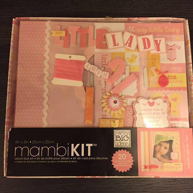 Mambi Kit Baby Girl Scrap Book Photo Album Kit Design Craft