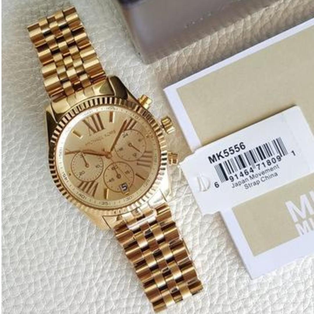 5ac16f350862 Michael Kors Lexington Chronograph Midsize Gold 38mm