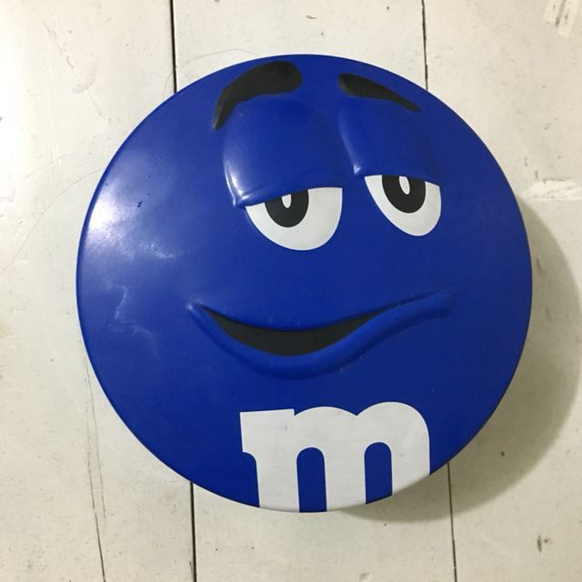 M&M Blue Tin Can