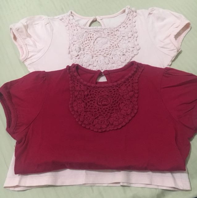 Mothercare Crocheted Tops (5-6yo, sold by pairs)