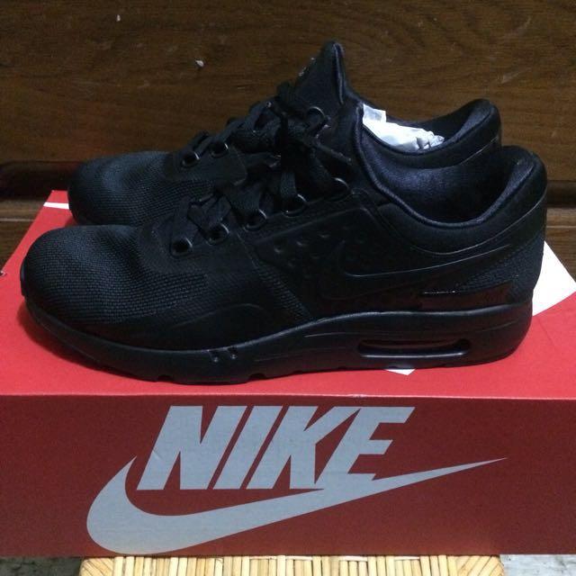 Nike air max zero essential 全黑 工作鞋 黑魂 氣墊