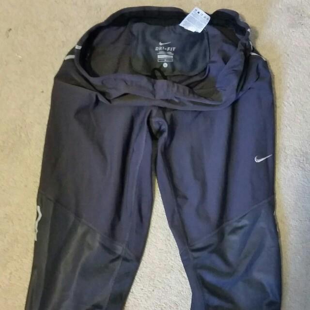 Nike dark grey dri-fit running Capri tights