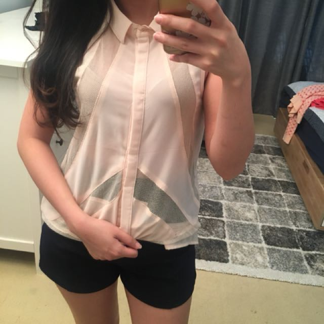 Nude Pink Casual Summer Top