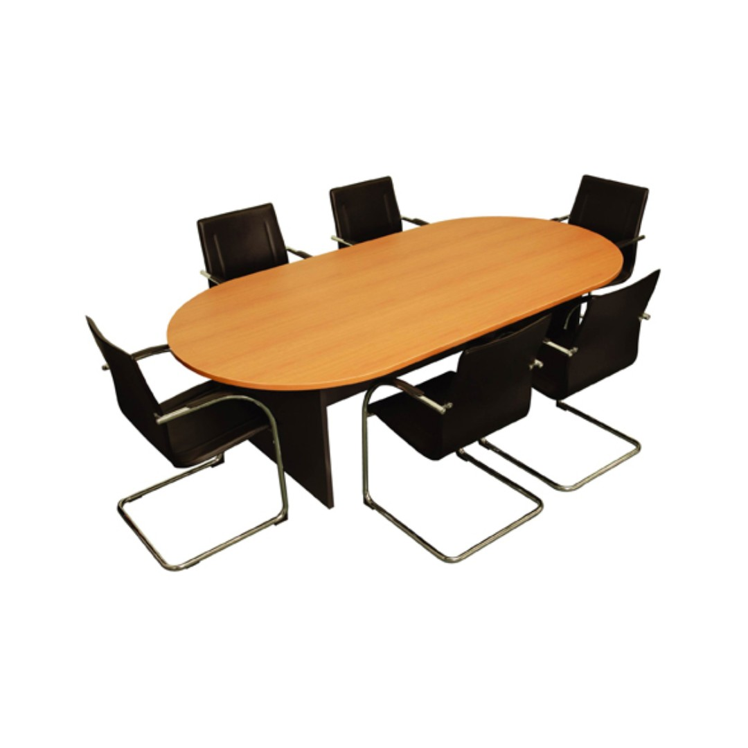 Office Oval Conference Table Home Furniture On Carousell - Oval conference room table