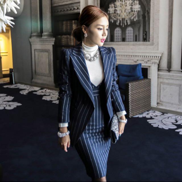 OL 優雅性感包臀裙❤️修身西裝套裝