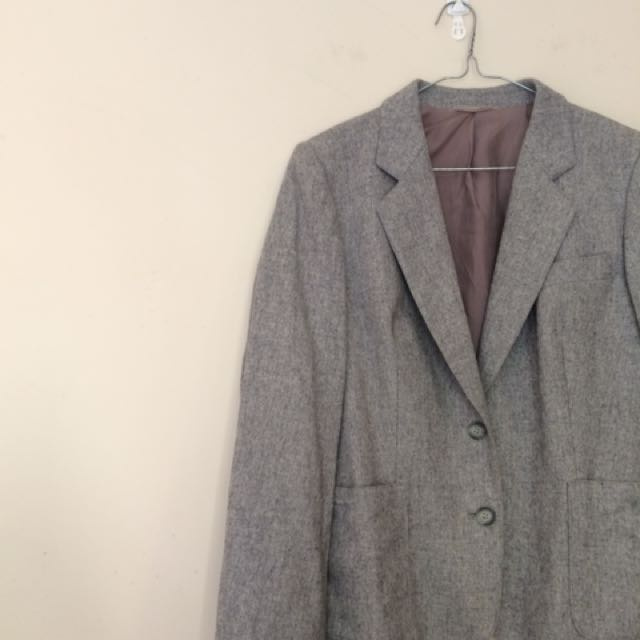 Over sized wool blazer