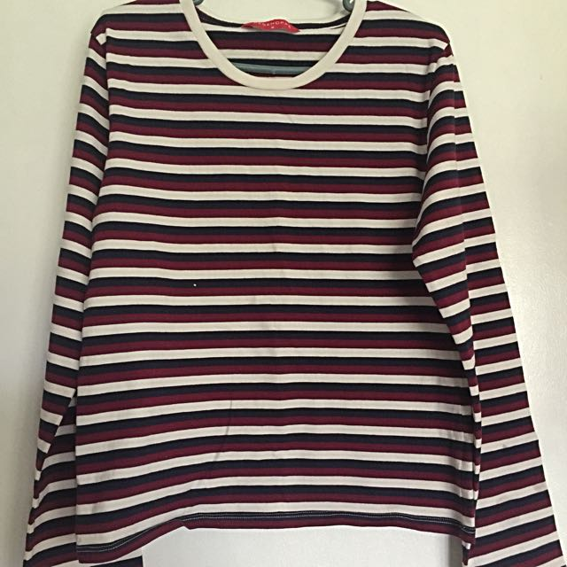 Penshoppe Red stripped long sleeves