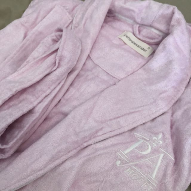 Peter Alexander Pink Robe - S