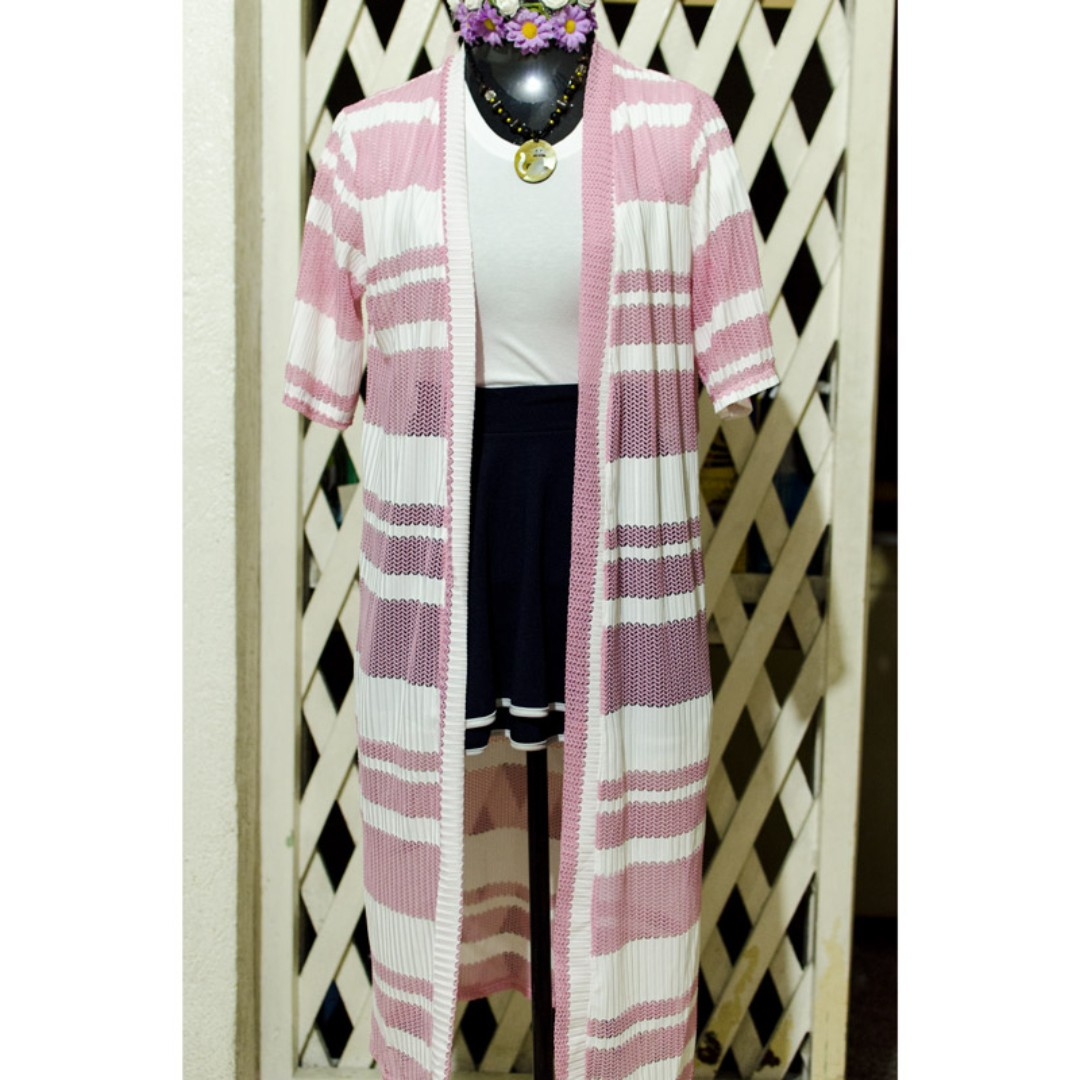 Pink Long Cardigan Cover up
