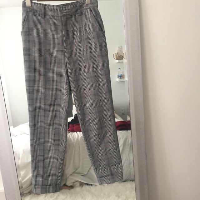Plaid pants forever 21