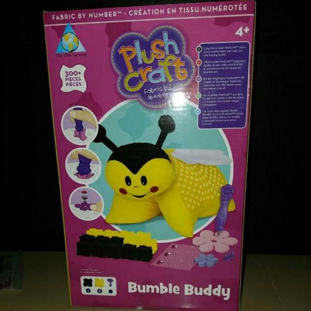Plush Craft DIY bumble buddy pillow