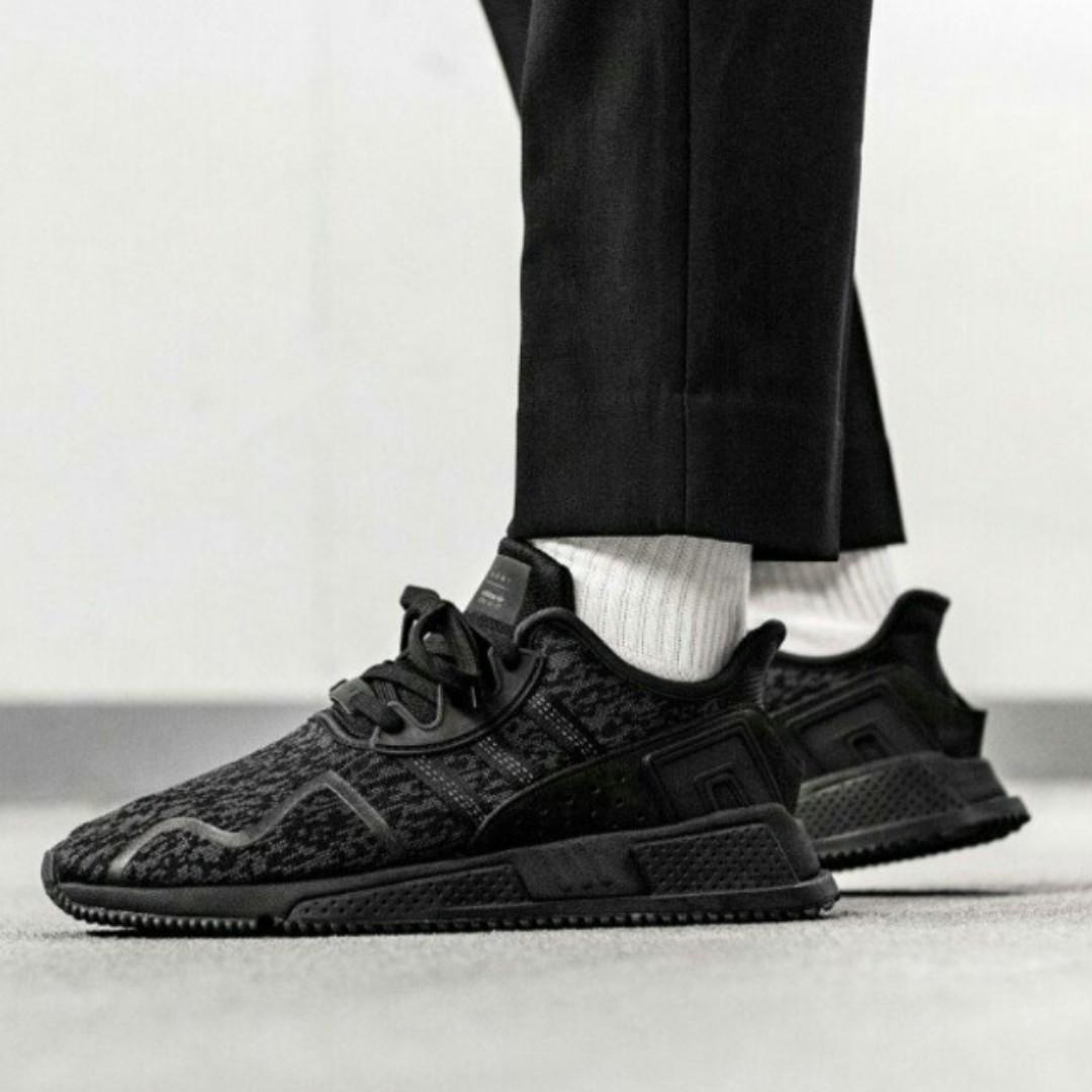 reputable site 5eb90 80404 PO) Adidas Mens EQT Cushion Adv Triple Black, Men's Fashion ...