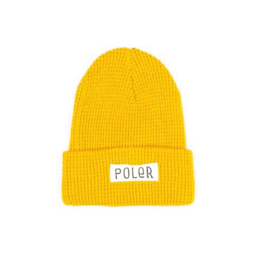 POLER STUFF Workerman Beanie 黃色毛帽